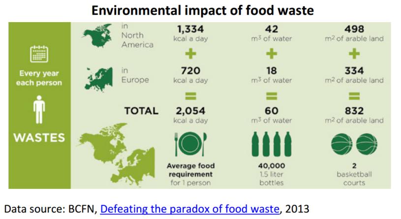 Environmental impact of food waste