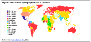 Duration of copyright protection in the world