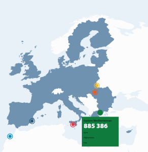 Animated Infographic - the routes of illegal entries into the EU 2015