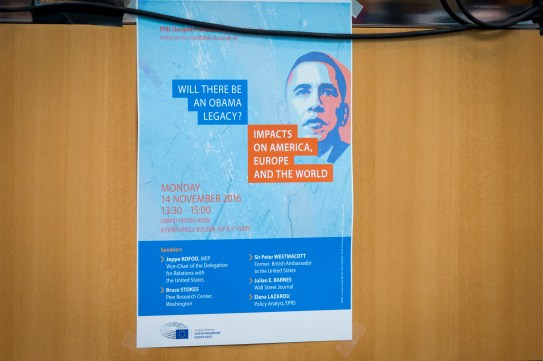 EPRS Presentation of public findings: ' The Legacy of the Obama Administration '
