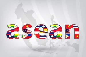 Asean Economic Community (AEC) with map in vector style (EPS10)