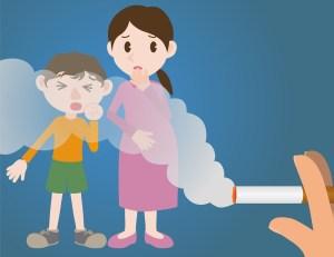 passive smoking concept, second hand smoking, involuntary smoking