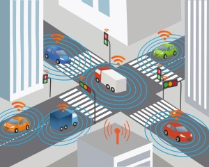 Communication that connects cars to devices on the road, such as traffic lights, sensors, or Internet gateways. Wireless network of vehicle. Smart Car
