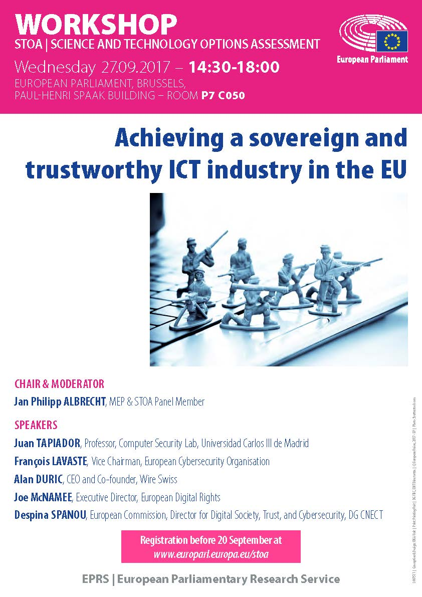 Achieving a sovereign and trustworthy ICT industry in the EU
