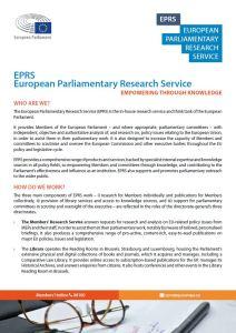 European Parliamentary Research Service description