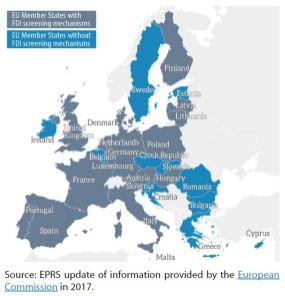 Formal FDI screening mechanisms in the EU (as of April 2019)