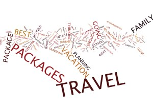 THE BENEFITS OF TRAVEL OFFERS Text Background Word Cloud Concept