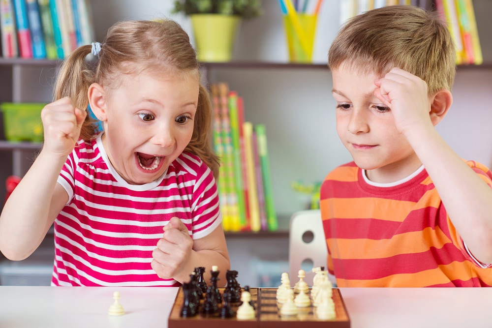 Young chess players in school [What Europe does for you]
