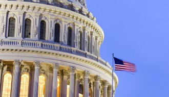 US Capitol Building Dome at dusk