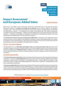 Impact Assessment and European Added Value presentation