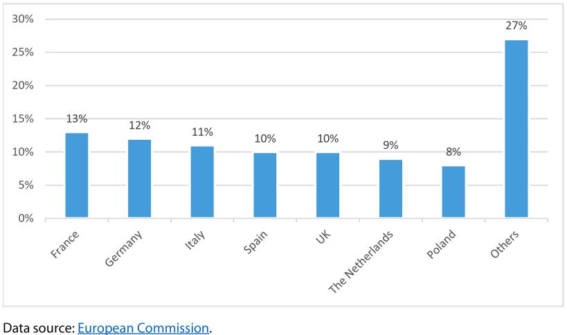 Main egg producers in the EU 2017