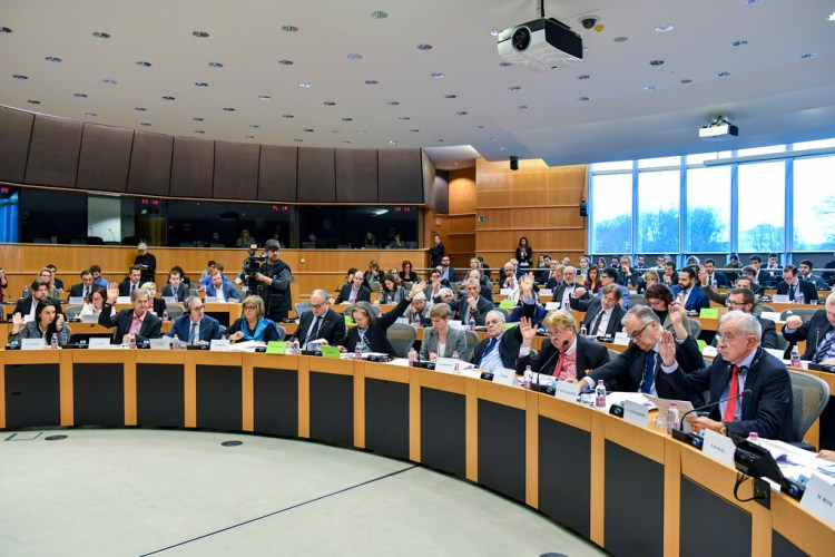 AFCO committee meeting. Vote on the Composition of the European Parliament.