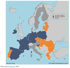 Minimum wages in EU Member States, July 2020 (PPS per month)