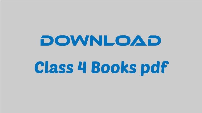 Class 4 Books pdf