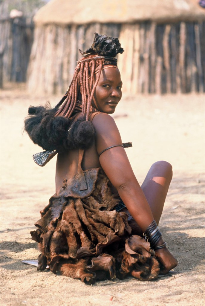 A Himba Woman's Traditional Hairstyle