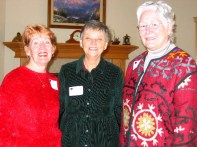 Janet Siedlecki, Sue King and Pat Ashley