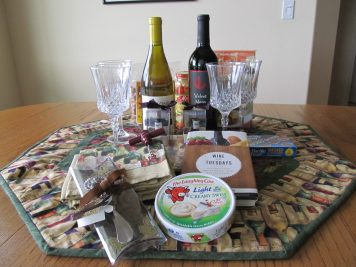Contents of the Wine Picnic Basket