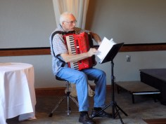 Richard Gyuro provided the enjoyable musical entertainment with his nimble fingers and his accordion.