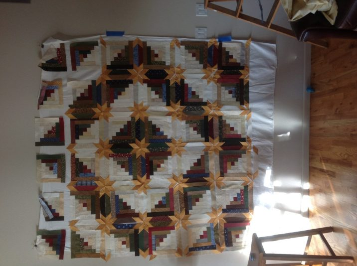 Log Cabin Star Opportunity Quilt