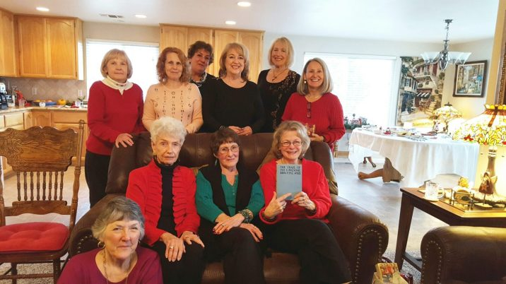 Book Club Buddies having a great time at December gathering