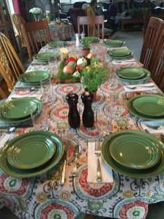 The table setting before we got started.