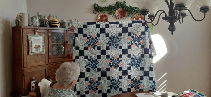 Dora Moore's quilt top for her granddaughter