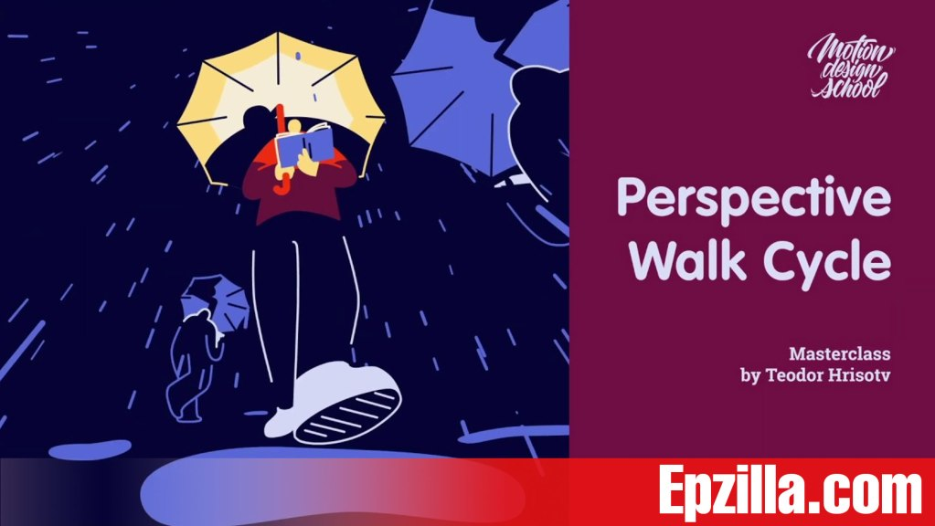 Motion Design School – Perspective Walk Cycle