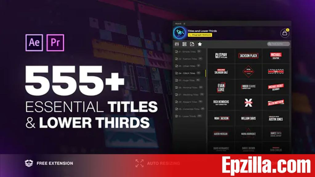 Videohive – AtomX 555+ Essential Titles and Lower Thirds 31130393