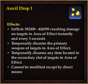 Effect - Anvil Drop