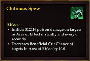 Effect - Chitinous Spew