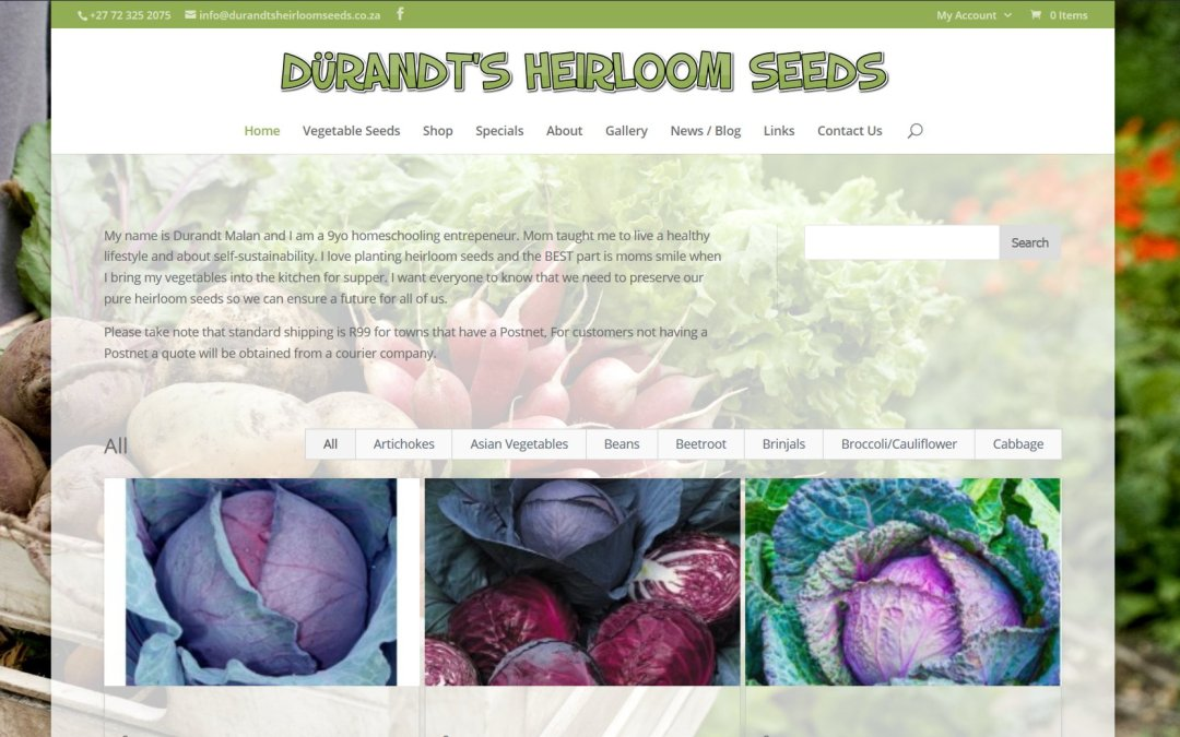 Dürandt's Heirloom Seeds – order online now
