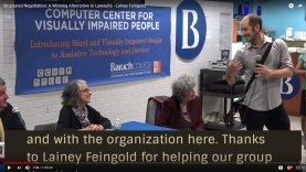 Thomas Logan of Accessibility NYC introduces attorney Lainey Feingold