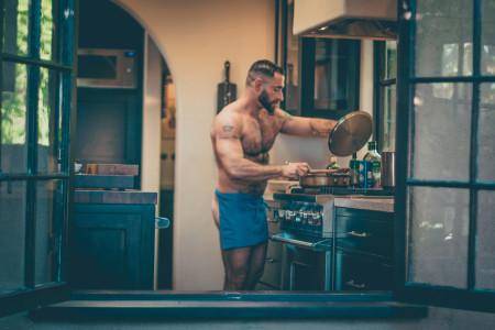 Bear-Naked Chef Adrian De Berardinis kitchen