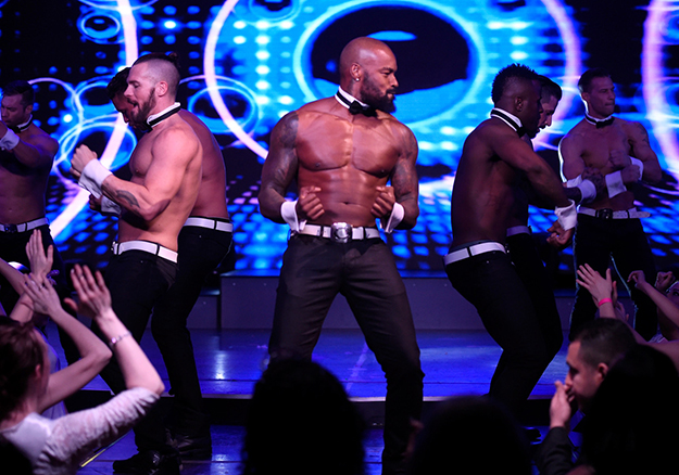 Tyson Beckford with the Chippendales team