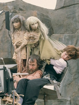 Jim Henson and Kathy Mullen performing Jen and Kira in The Dark Crystal, 1981. Photo by Murray Close. (c) The Jim Henson Company. All Rights Reserved.