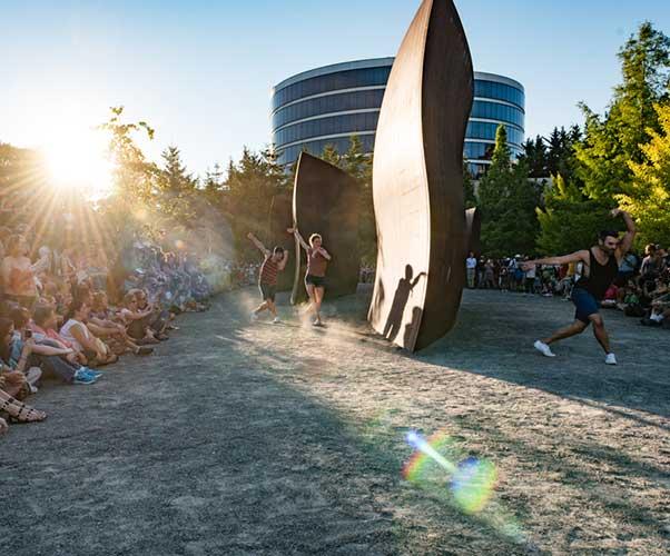 Sculptured Dance at Seattle Sculpture Park