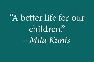 Mila Kunis on Six Words: Fresh Off The Boat
