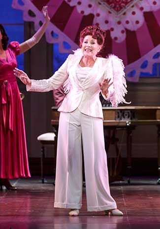 Lorna Luft stars as Louise in Irving Berlin's Holiday Inn at The 5th Avenue Theatre - Photo Credit Mark Kitaoka on equality365.com