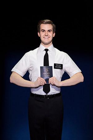 "Kevin Clay as Elder Price in ""The Book of Mormon"" (c) Julieta Cervantes"