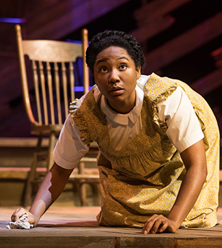 "Adrianna Hicks (Celie) in the North American tour of ""THE COLOR PURPLE."" Photo by Matthew Murphy, 2017."