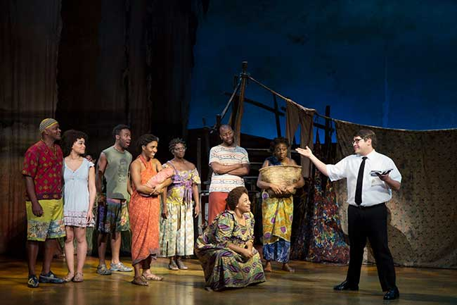"""The Book of Mormon"" Company. Photo by Julieta Cervantes"