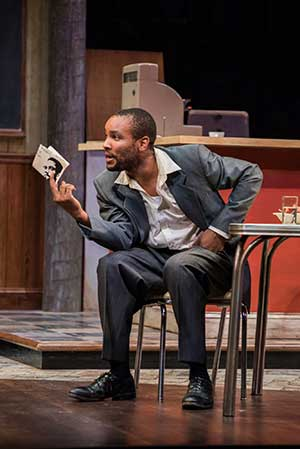 "Carlton Byrd (Sterling) in Seattle Repertory Theatre's production of August Wilson's ""Two Trains Running."" Photo by Nate Watters. Equality365.com"