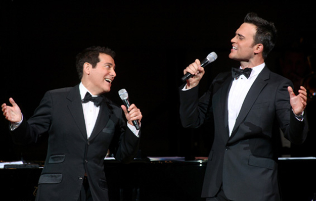 "Michael Feinstein & Cheyenne Jackson at Carnegie Hall with their show ""The Power of Two"" in 2009 on equality365.com"