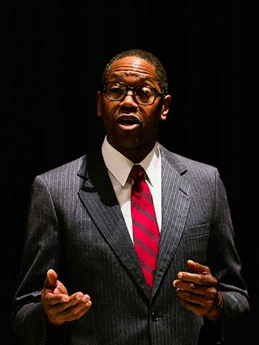 Eric Clausell as Thurgood at Broadway Center on equality365