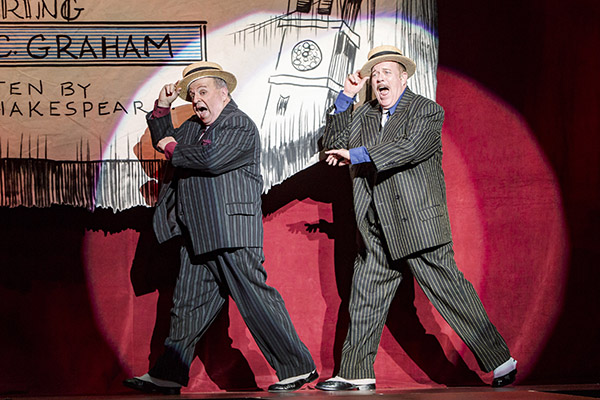 "Allen Galli as Second Man and Richard Ziman as First Man in ""Kiss Me, Kate"" (Photo Credit Tracy Martin)"