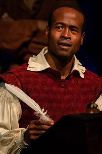 Rafael Jordan in Shakespeare In Love by Seattle Shakespeare Co (photo by Ulman)