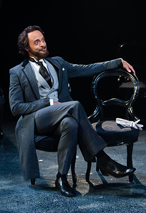 "Brandon J. Simmons as Lord Henry Wotton in ""The Picture of Dorian Gray"" at Book-It Repertory Theatre. (Photo by John Ulman.)"