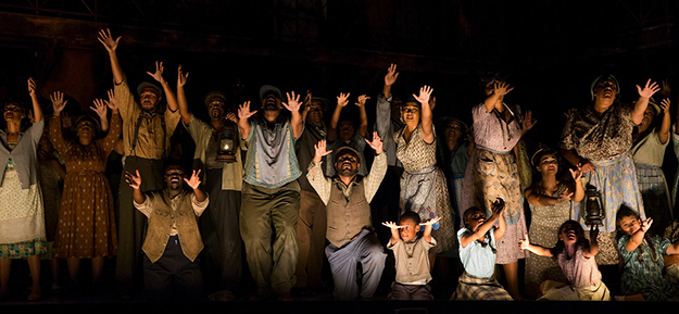 Cast members of Seattle Opera's Porgy and Bess. (Photo by Philip Newton)
