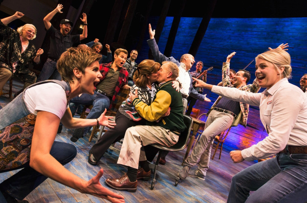 The cast of COME FROM AWAY (photo by Matthew Murphy 2016)