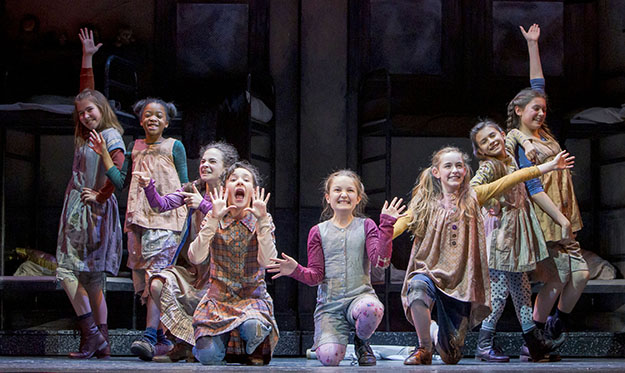 The Orphans in Annie (Photo Credit Tracy Martin)